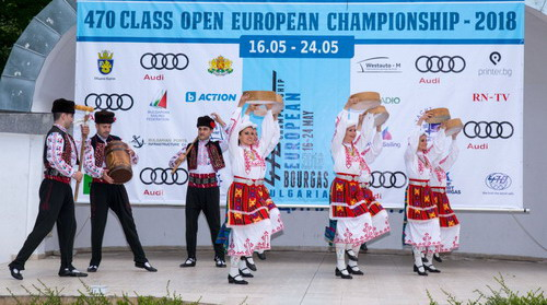 A ceremony for the Оpening of the European Championship in class 470 was held in Bourgas.