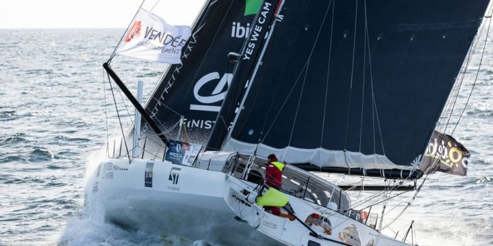 Hugo Boss is advancing, 110 nautical miles, northeast of Recife, Brazil …..