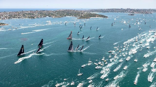 100 crews at the start of the Rolex Sydney Hobart Yacht Race. 75 years since the participation of women sailors in the yacht race ….